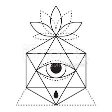 Резултат с изображение за geometric triangle tattoo meaning