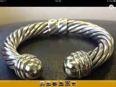 DAVID YURMAN 10MM GOLD CAP CLASSIC BRACELET - http://designerjewelrygalleria.com/david-yurman/david-yurman-10mm-gold-cap-classic-bracelet/
