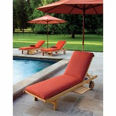 Smith hawken brooks island wood patio chaise lounge for Belmont brown wicker patio chaise lounge