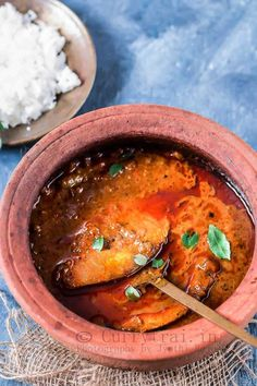 This red, spicy finger licking fish curry from God's own country pairs up perfect with steamed rice and kappa.