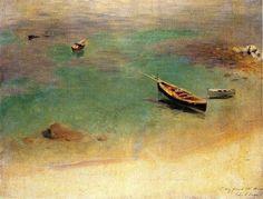 A Boat in the Waters off Capri 1878. Джон Сингер Сарджент
