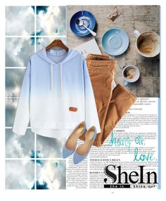 """""""Blue Hooded sweater"""" by gabygirafe ❤ liked on Polyvore featuring moda, Anja, Barclay Butera, H&M, Oasis, women's clothing, women's fashion, women, female ve woman"""