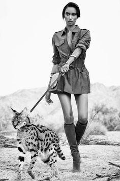 "amy-ambrosio: Anais Mali in ""On Safari"" by Nathaniel Goldberg for Harper's Bazaar US, March 2015."