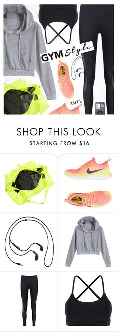 """Gym Style"" by pokadoll ❤ liked on Polyvore featuring NIKE and Samsung"