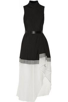 Theory Dexas wool and silk-blend dress | NET-A-PORTER