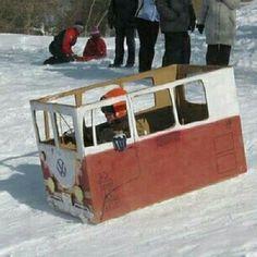 VW bus sledge Volkswagen camper campervan kombi