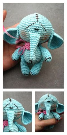 Amigurumi Little Elephant Free Pattern – Amigurumi Free Patterns And Tutorials Crochet Round, Single Crochet, Free Crochet, Knit Crochet, Crochet Hats, Amigurumi Patterns, Amigurumi Doll, Crochet Patterns, Crochet Ideas