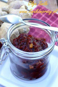 Chutney z pomidorów Polish Recipes, Pudding, Desserts, Chutney, Food, Tailgate Desserts, Deserts, Puddings, Meals