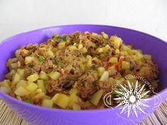 Cocina Costarricense: picadillo papa con carne