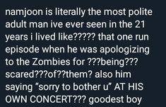 Namjoon so respectful even though he's the king Namjoon, Hoseok, Taehyung, Rapmon, K Pop, Bts Tweet, About Bts, Rap Monster, Bts Boys