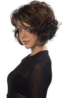Corte cabelo curto ondulado