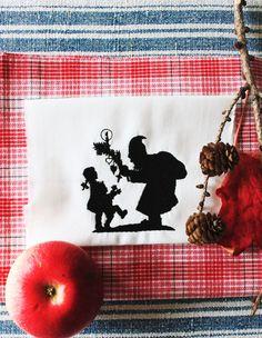"""Stickdatei  """"Nikolaus- warst du auch artig?."""".;-)) von  """"FeinKram""""  hier gibt es die schönsten Scherenschnitt StickDateien ;-))) auf DaWanda.com"""
