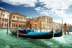 Magnificent Italy - Gondolas in Venice