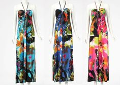New Womens Summer Sexy Beach Holiday Floral Printed Maxi Long Dress Celeb Style £18.99