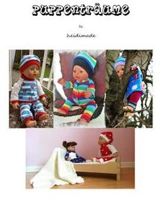 Freebook Puppenträume - ganz viele Puppensachen Mütze, Hose, Pulli, Socken, Leggins, Strumpfhose, Strampler,Jacke, Schühchen, Schlafsack