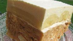 Luxus na talířku – Jablečné řezy s tvarohovou šlehačkou – RECETIMA No Bake Cookies, Cake Cookies, No Bake Cake, Brze Torte, Sweet Recipes, Cake Recipes, Ice Cream Candy, Czech Recipes, Special Recipes