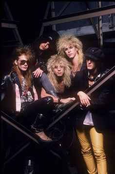 Guns N' Roses (I have this poster somewhere).