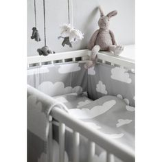 cotton duvet cover x and pillow case x in the iconic Moln Clouds design by Gunila Axén. This gender neutral bedding set is a good size for a cot, cot bed or toddler bed. Farg Form make a duvet and pillow inner for this set, you can find them here.