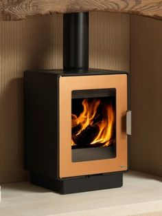 The LF4 range of sleek, contemporary wood burning stoves manufactured by LogFire Stoves offer effortless, efficient performance Efficiencies of +80% and an output of 4kW this iconic, designer CE approved wood burner would become a feature within any room setting. #Stove #Woodburner #InteriorDesign