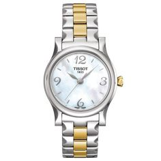 T Classic Stylis T Mother of Pearl Dial Two-tone Ladies' Watch