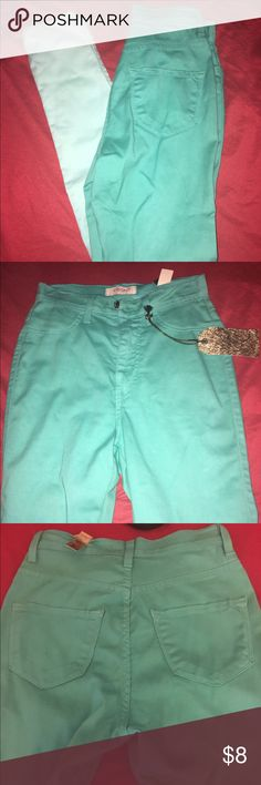 Blue high waist ombré jeans Sz 5 High waist ombré jeans Sz 5. These are made of a thin denim fabric-like a jegging. NWT 77% cotton 21% polyester 2% spandex. Jeans Skinny