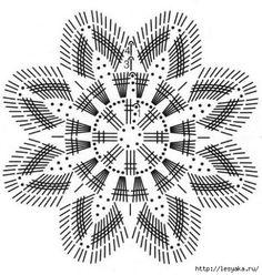 Crochet Snowflake Pattern, Crochet Doily Diagram, Crochet Motif Patterns, Form Crochet, Crochet Snowflakes, Crochet Mandala, Crochet Art, Crochet Squares, Thread Crochet
