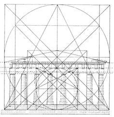 The hardcore of geometry: Parthenon Sacred Architecture, Architecture Drawings, Classical Architecture, Historical Architecture, Architecture Details, Parthenon Architecture, Ancient Greek Architecture, Golden Ratio In Design, Alexander The Great