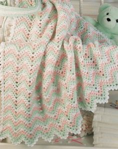 Lacy Ripples Crochet Baby afghan pattern