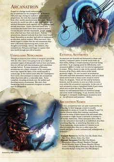 [5E] [Homebrew] [Race] Arcanatron (In Development) - Album on Imgur