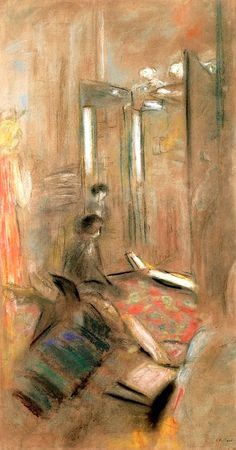 The Salon of Coco Chanel / Edouard Vuillard - 1921