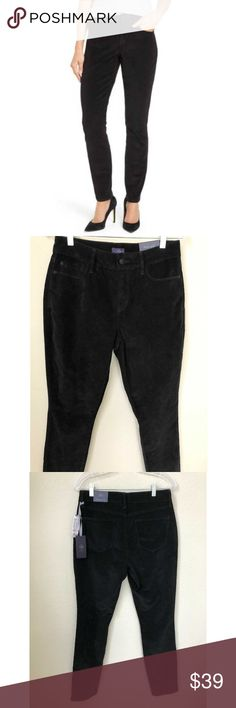 Nwt Laundry/shelli Segal Black Dress Pants Skinny Faux Leather Sz 2 $188 Women's Clothing