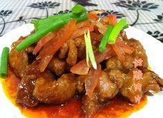 利用梅肉做甜酸肉片口感最佳,肉質嫩滑無比,加入酸甜的醬汁味道更是下飯。