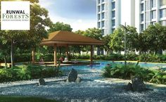 Runwal Forests - 2 BHK Flats in Kanjurmarg West.  Attain nirvana in your backyard. Start your day with yoga at the pavilions by the beautiful lotus pond.