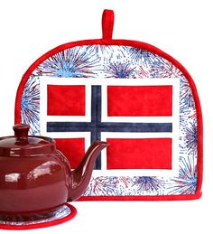 Quilted Patriotic Tea Cozy Norwegian Flag Norway May 17th