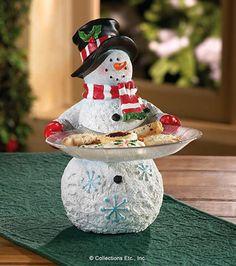 Snowman Serving Tray