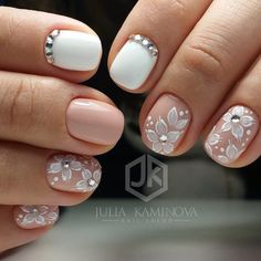 Wedding Nails – Image Ideas – Hair, Nails, Skin – Tips, Tricks and Hacks Shellac Nails, Manicure And Pedicure, Toe Nails, Gorgeous Nails, Pretty Nails, Romantic Nails, Bridal Nail Art, Wedding Nail, Bride Nails
