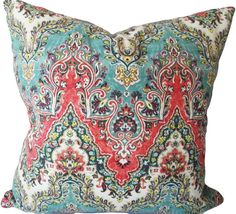 This Waverly India Sari Throw Pillow Cover, By PK Lifestyles, is an Exquisite Decorative Pillow, that Showcases the ..PALACE SARI SLUB JEWEL..