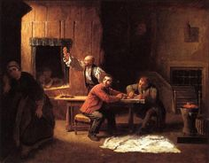 The Counterfeiters (ca 1853) - oil on canvas. Private collection.