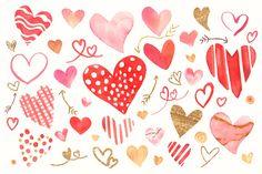 Red hearts pattern wallpaper vector | premium image by rawpixel.com / Adj Pink Heart Background, Valentines Day Background, Watercolor Heart, Watercolor Pattern, Valentines Wallpaper Iphone, Heart Sketch, Red Heart Patterns, Scrapbook Background, Background Design Vector