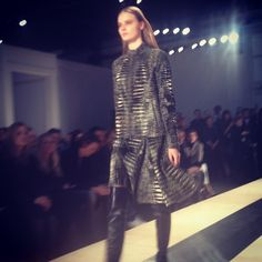 Croc suit at @Reed Krakoff...next level.  #RZFW - @The Zoe Report- #webstagram