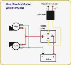 4 pin horn relay wiring google search car air filter
