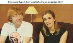 Ron and Hermione kiss reaction