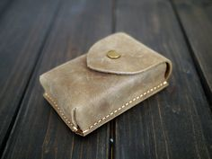Genuine Leather Card Holder  Mens Leather Card Case  by CityOfGod