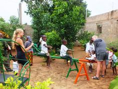 Our two brightest Danish volunteers brightened up the orphanage with a personalized playground, fully equipped with a slide, swing-chair, 2 play horses and a balance-swing, having raised the money themselves.