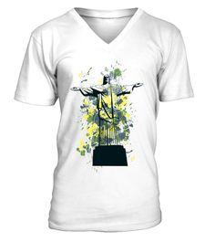 7dbba538e Illustrative Tshirt · # Christ the Redeemer Brasil Illustration V Neck Men  Tees . Click to buy:Unisex