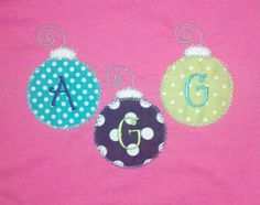 Christmas Ornament Trio Monogram Shirt