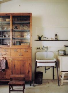 lovely wood cupboard