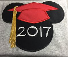 Graduation Mickey Printable Iron On Transfer or Use as ... |Graduation Mickey Mouse Shirts