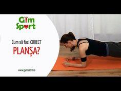 Plansa - Cum sa faci corect exercitiul plansa? - YouTube Exercise, Gym, Sports, Youtube, Ejercicio, Hs Sports, Excercise, Work Outs, Sport