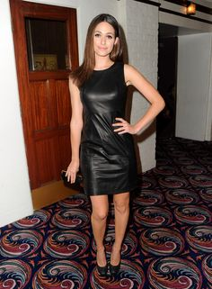 Emmy Rossum Leather Dress
